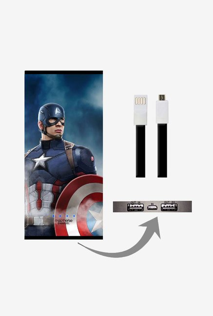 Macmerise UNP8KMMM0554 Team Blue Captain 8000 mAh Universal POwer Bank with Dual USB Output