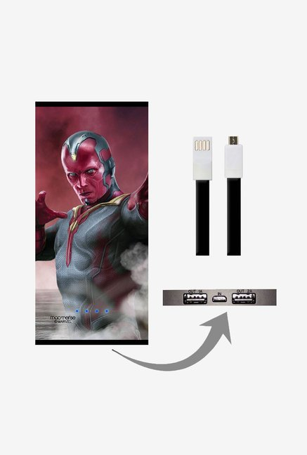 Macmerise UNP8KMMM0608 Team Red Vision 8000 mAh Universal POwer Bank with Dual USB Output