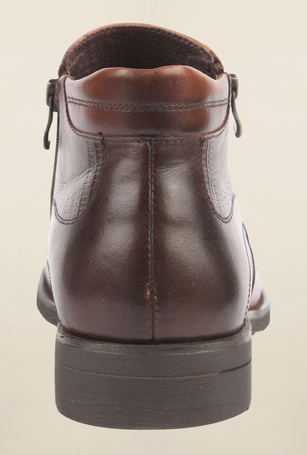 Cobblerz Brown Leather Biker Boot