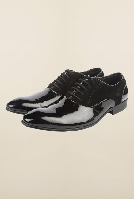 Cobblerz Black Oxford Formal Shoes