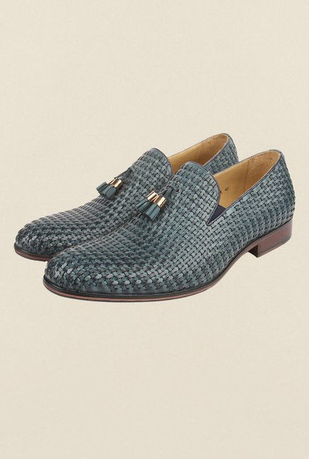 Cobblerz Blue Slip-On Shoes