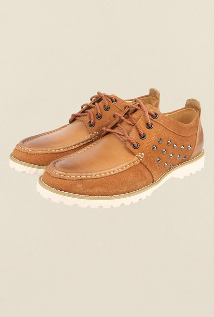 Cobblerz Tan Leather Casual Shoes