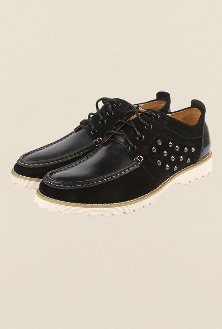 Cobblerz Black Lace Up Shoes