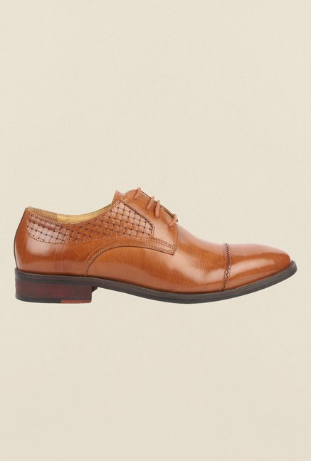 Cobblerz Tan Oxford Shoes
