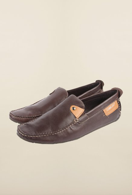 Cobblerz Dark Brown Moccasin Shoes