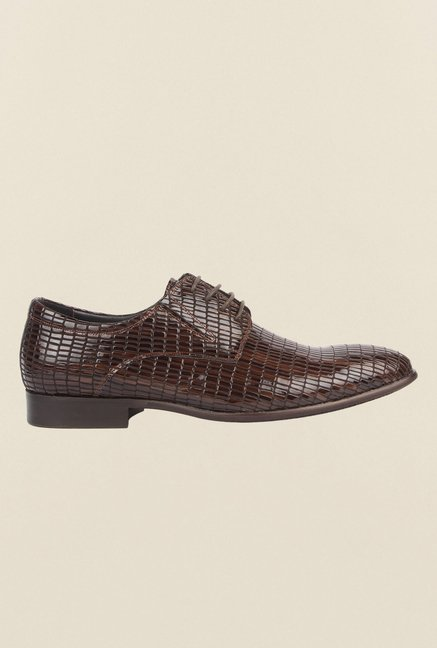 Cobblerz Brown Leather Formal Shoes
