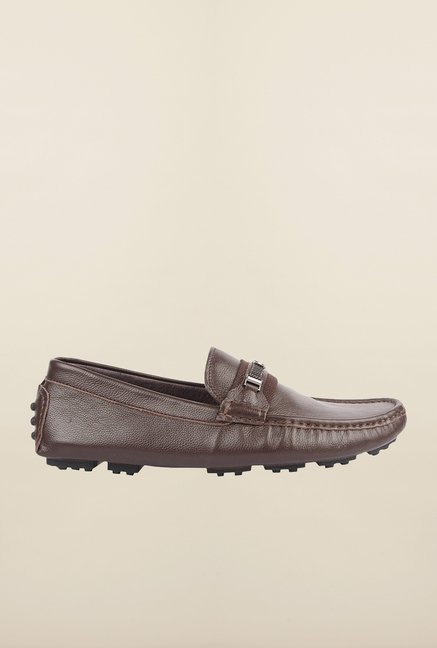 Cobblerz Coffee Leather Casual Moccasins