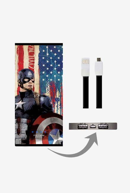 Macmerise UNP8KMMM0338 American Captain 8000 mAh Universal POwer Bank with Dual USB Output
