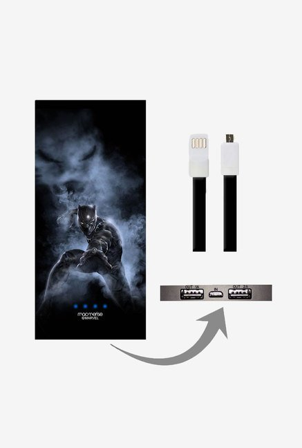 Macmerise UNP8KMMM0356 Black Panther Attack 8000 mAh Universal POwer Bank with Dual USB Output