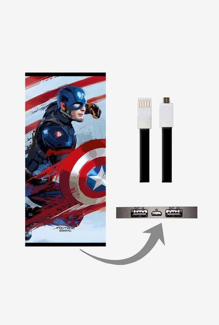 Macmerise UNP8KMMM0380 Captain Strokes 8000 mAh Universal POwer Bank with Dual USB Output