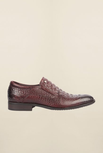 Cobblerz Wine Leather Slip-On Shoes