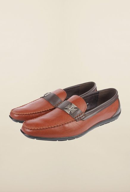 Cobblerz Brown Leather Moccasin Shoes