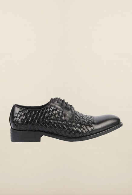 Cobblerz Black Leather Lace Up Shoes