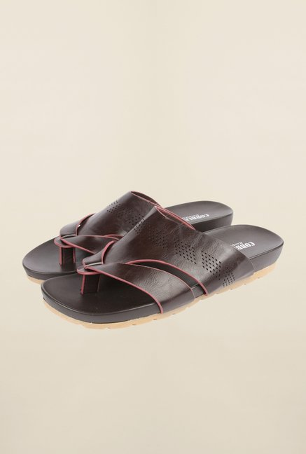 Cobblerz Coffee Leather Thong Sandals