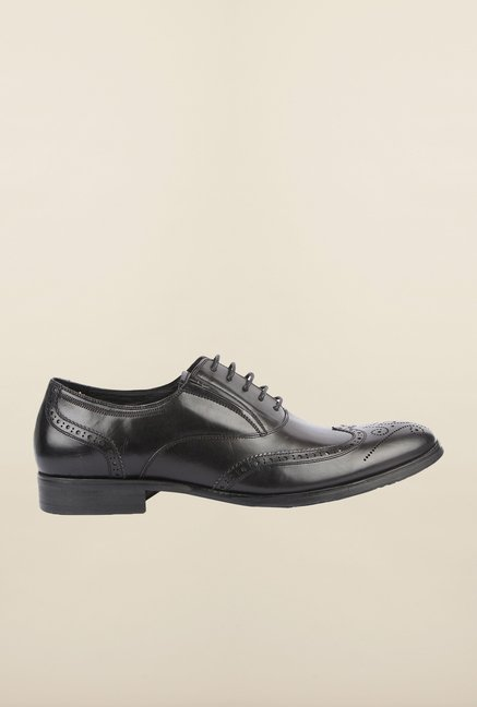 Cobblerz Black Brogue Formal Shoes