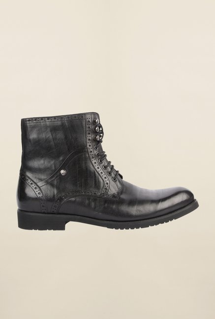 Cobblerz Black Leather Biker Boots