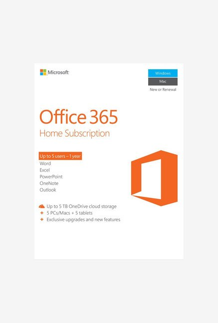 Microsoft Office 365 Home with 1 TB Cloud Storage
