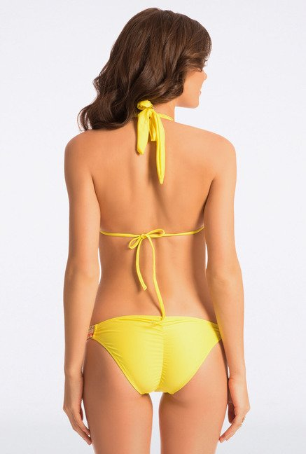 Pretty Secrets Yellow Solid Bikini Set