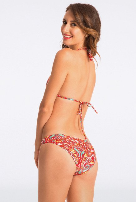 Pretty Secrets Multicolored Paisley Halter Bikini Set