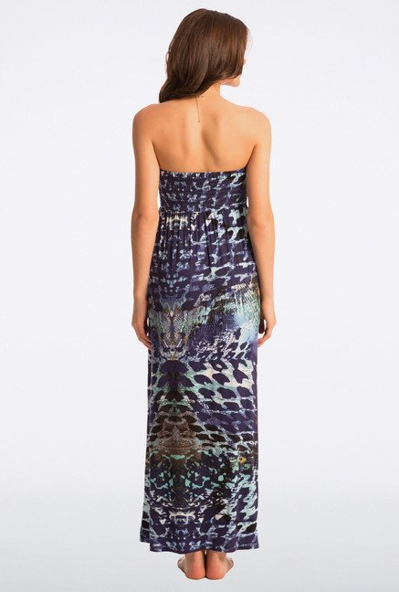 PrettySecrets Blue Printed Beach Maxi Dress