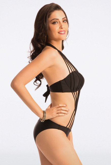 Pretty Secrets Black Strappy Monokini