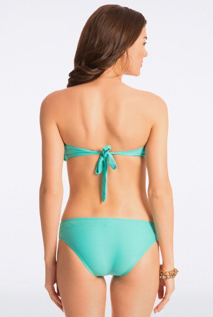 Pretty Secrets Turquoise Strapless Bikini Set