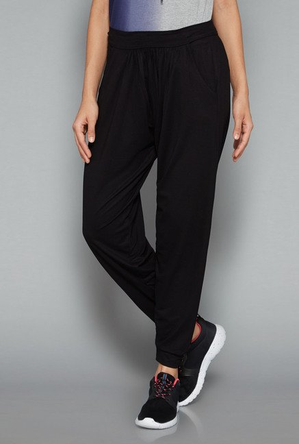 Westsport Womens Black Solid Joggers