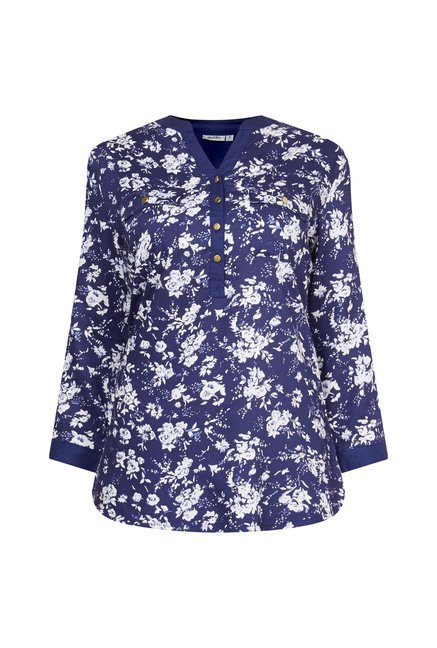Zudio Navy Printed Ryn Blouse