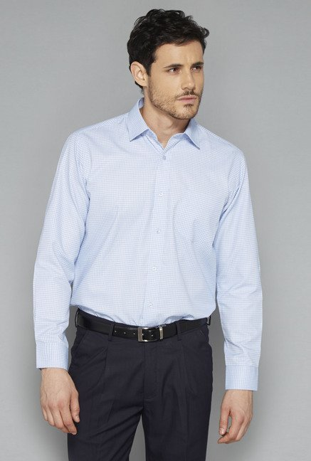 Weststreet Sky Blue Checks Shirt