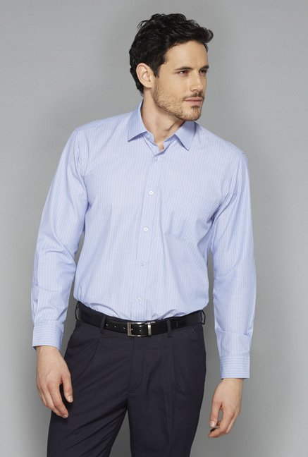 Weststreet Sky Blue Striped Shirt