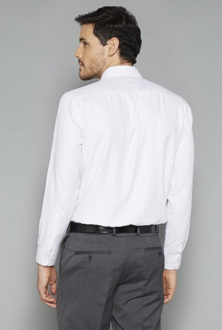 Weststreet White Checks Cotton Shirt