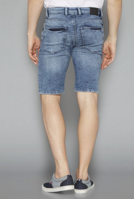 Nuon Blue Solid Shorts