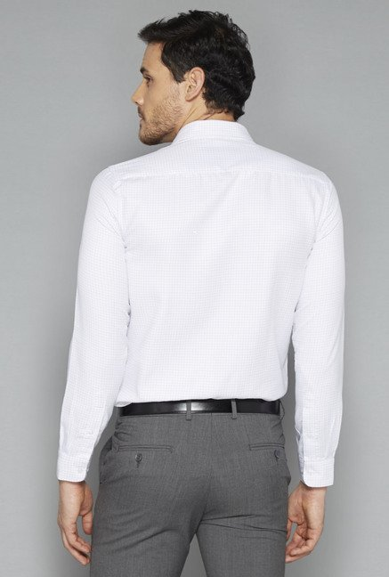 Weststreet White Checks Slim Fit Shirt