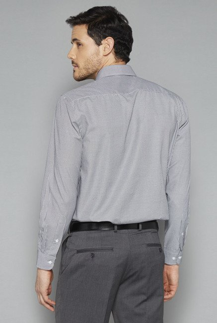 Weststreet Grey Checks Shirt