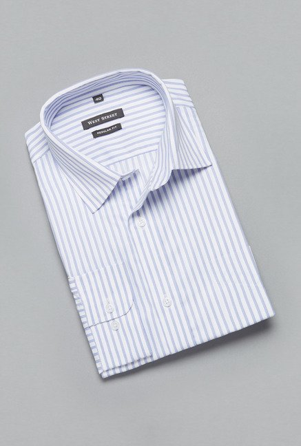 Weststreet Off White Striped Shirt
