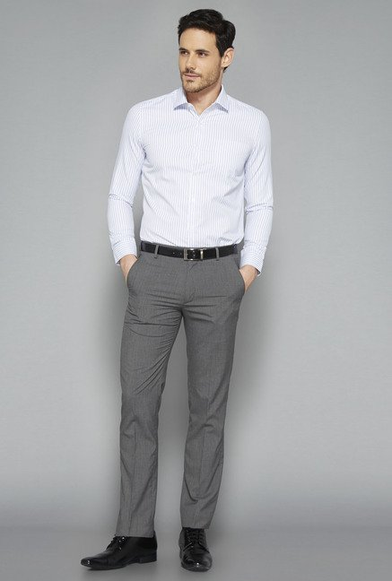 Weststreet White Striped Slim Fit Shirt