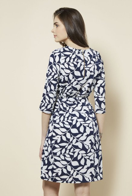 Zudio Navy Suzy Printed Dress