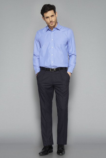 Weststreet Blue Striped Cotton Shirt