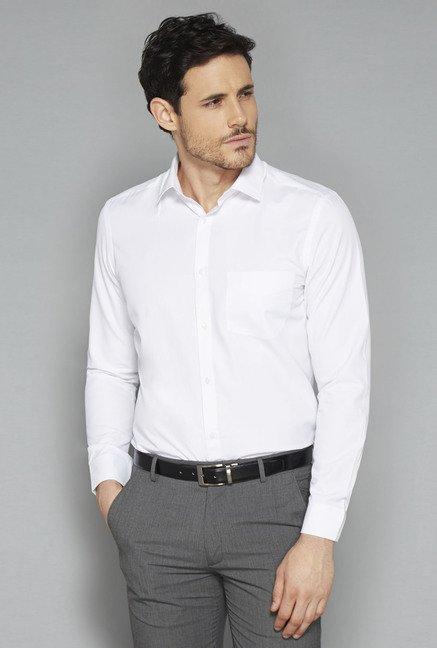 Weststreet White Solid Shirt