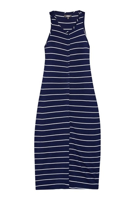 Nuon Navy Striped Bonny Shrug