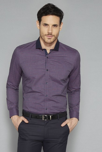 Weststreet Purple Striped Shirt