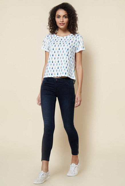 Zudio Navy Skinny Fit Lucia Jeans