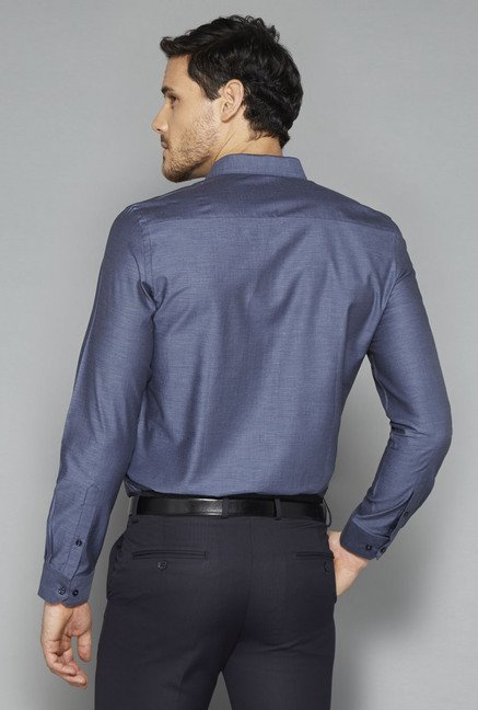 Weststreet Blue Solid Shirt