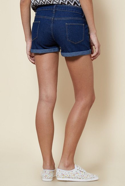 Zudio Blue Solid Shorts