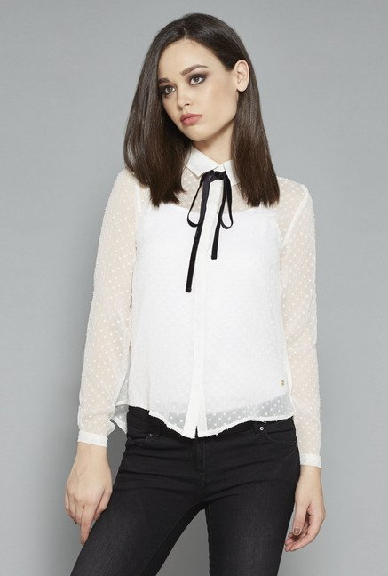 Nuon White Karline Blouse