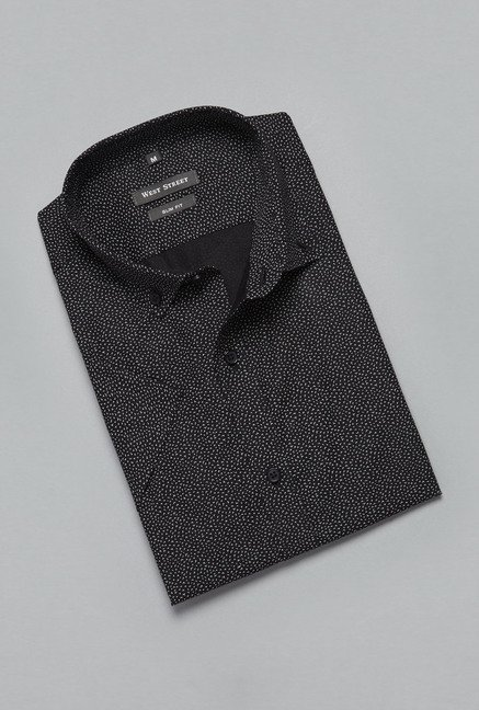 Weststreet Black Printed Shirt