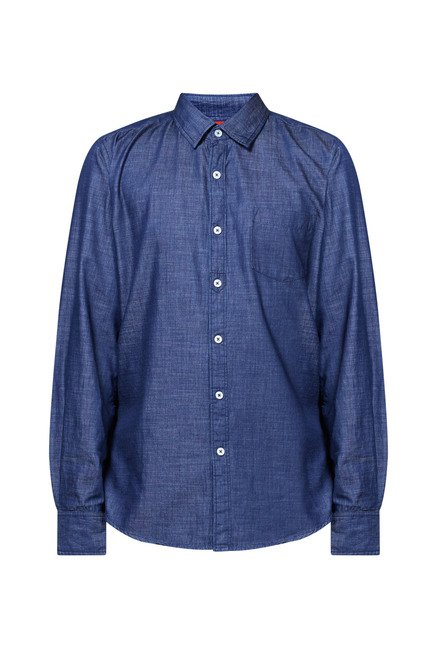 Zudio Indigo Solid Shirt