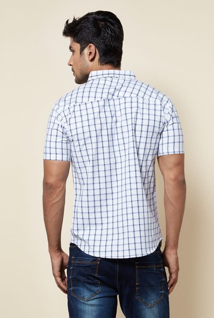 Zudio White Checks Shirt