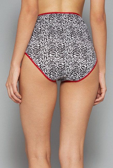 Wunderlove Black, Red Printed Panties (Pack Of 3)