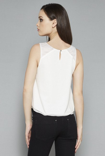 Nuon White Zelia Top